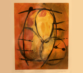 Denise Lachapelle, Lumières, monotype, 2002